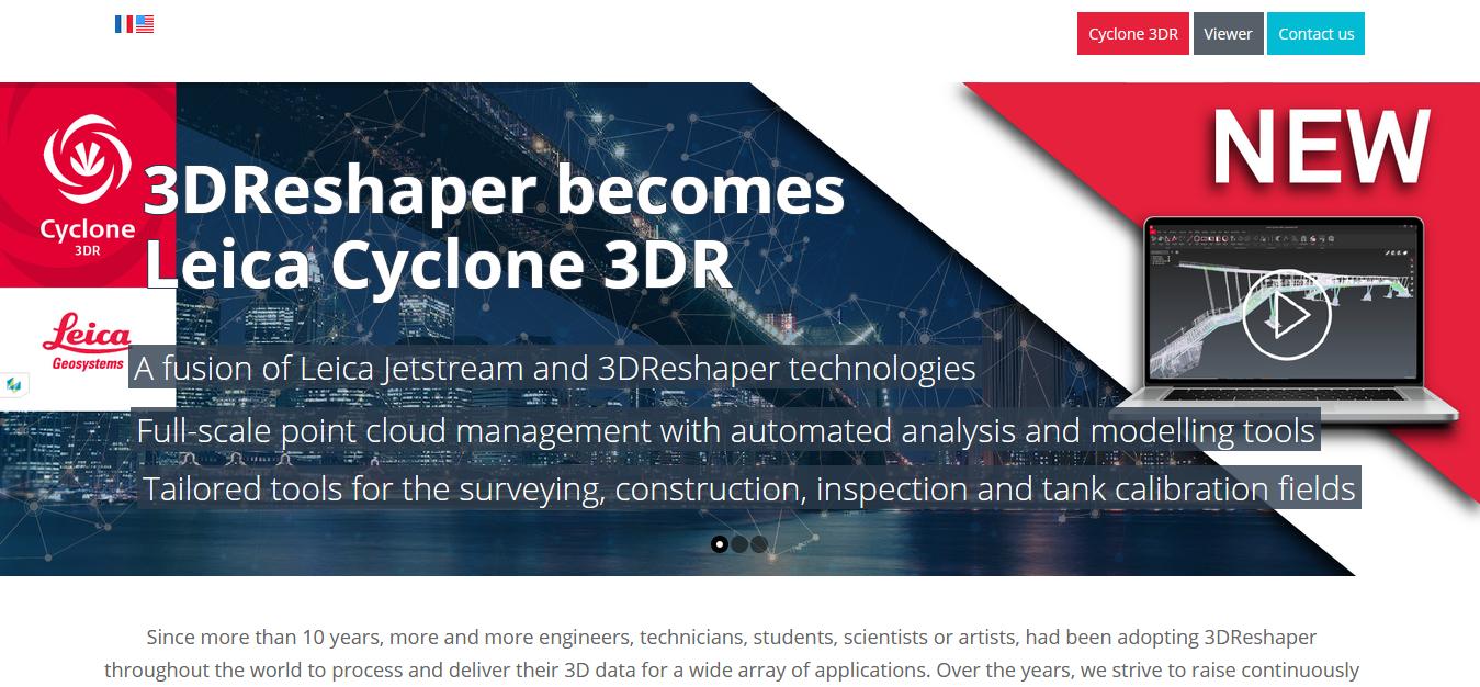 3D Reshaper website screen short