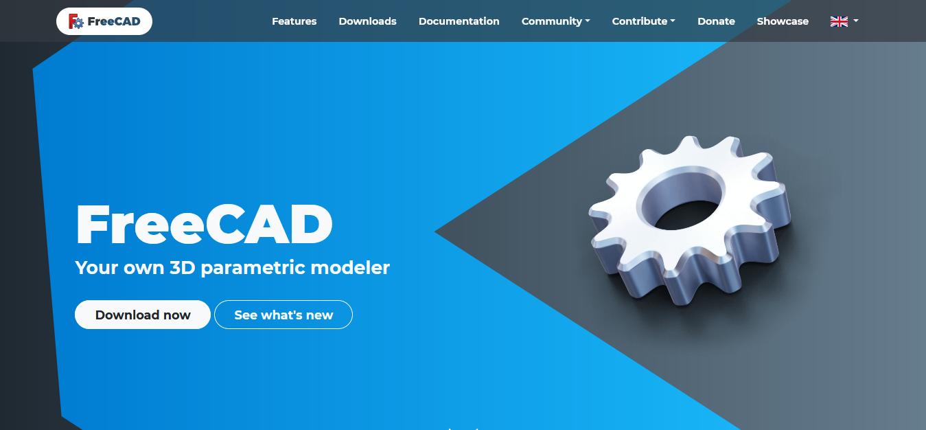 FreeCAD website screen short