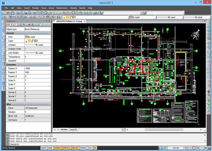 NanoCAD CAD Drafting Software