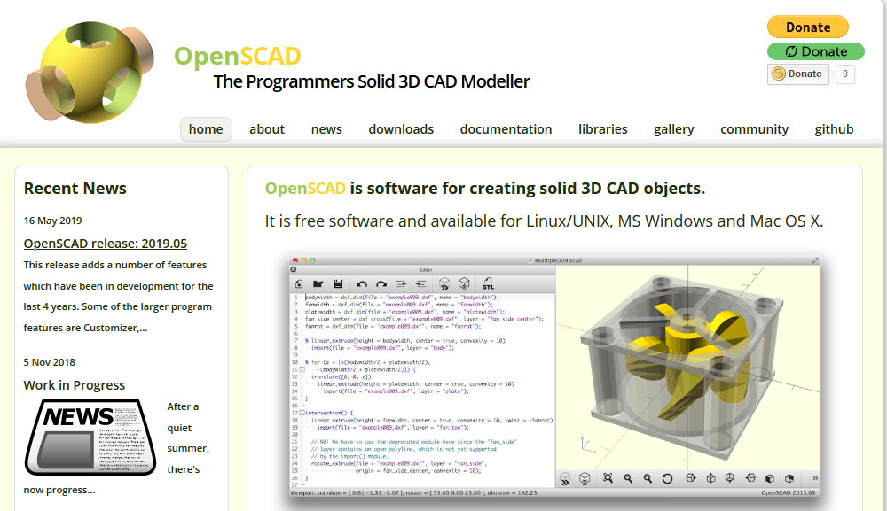 OpenSCAD Softwrare