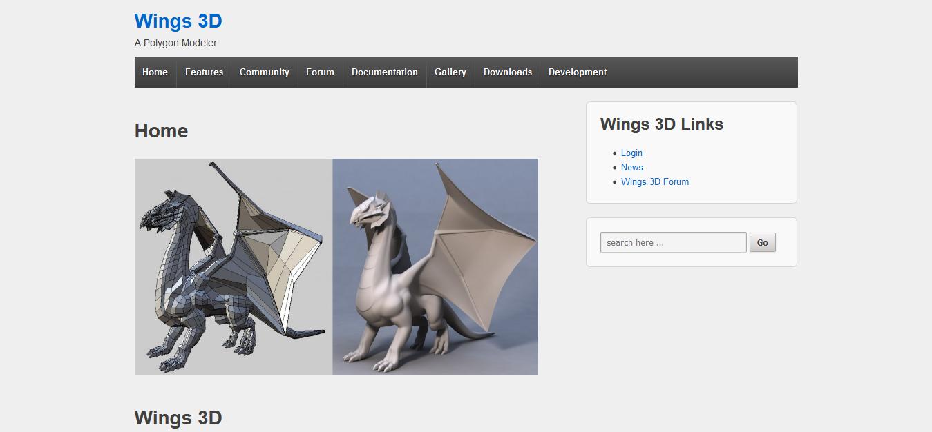 Wings 3D Screen