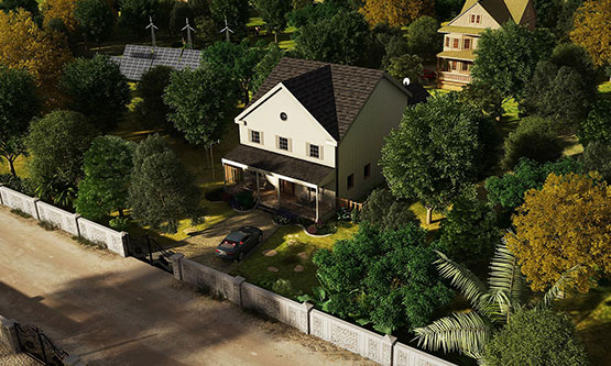 3D-Aerial-View-Rendering-Athens-Clarke-County
