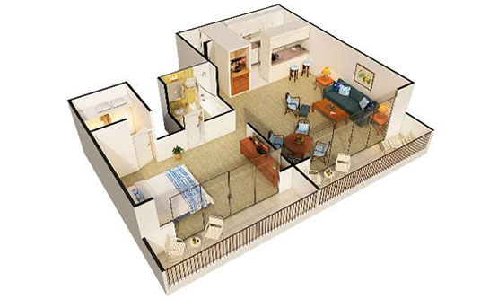 3D-Floor-Plan-Rendering-Honolulu