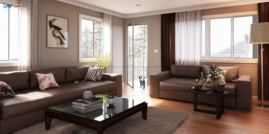 3d interior design with luxurious lifestyle